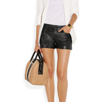 Theory | Rizda washed-leather shorts | NET-A-PORTER.COM