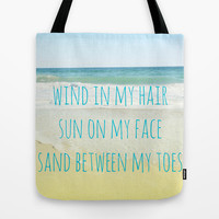 Wind In My Hair Tote Bag by Shawn Terry King