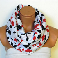Leaf pattern, Infinity Scarf,nomad scarf,Christmas gifts,,Loop Scarf,Circle Scarf,cotton fabric Scarf,Cowl Scarf, eternity Scarf,
