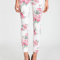BLOOMING FLOWERS SKINNY JEANS