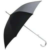 "All-WeatherTM 48"" Classic Black Umbrella with Aluminum Shaft and Handle"