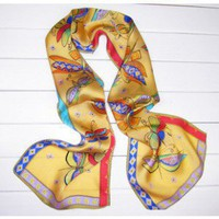 Dragonfly Dancing Oil Painting Scarf-Headscarf