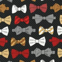 Dashing Bowties in Black (Andie Hanna - Fox and Houndstooth)