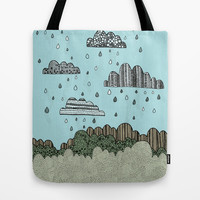 Rainy Day Tote Bag by Anita Ivancenko