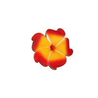 Hawaiian Foam Plumeria Flower Hair Clip in Red Orange or Blue White Yellow
