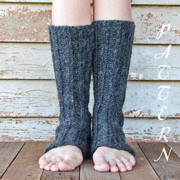 Womens Leg Warmers Knitting Pattern - from knittedbyscw