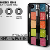 Glitter Eyeshadow Makeup Palette Iphone Cool Case Iphone 4 case Hipster Iphone 5 case Iphone 4s case Samsung Galaxy S3 Case