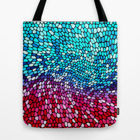THINK TEAL AND PINK Tote Bag by catspaws