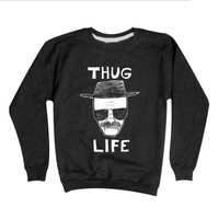 THUG LIFE Heisenberg Sweatshirt  - Breaking Bad Sweater Walter White He Is Enberg Crewneck