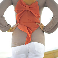 Something Wicked Bow Top: Tan | Hope's