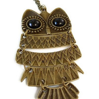 Owl pendant necklace by ShimmeringCloud on Etsy