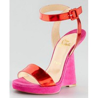 Christian Louboutin Djaldos Spechio Colorblock Wedge