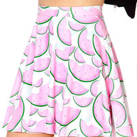 Watermelon Skater Skirt - LIMITED | Black Milk Clothing