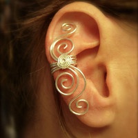 Ear cuffs, Ear Wraps, No Piercing Needed Fine Silver Multi Swirl Ear Cuff  Earcuff Now in .999 Fine Silver Non Tarnish