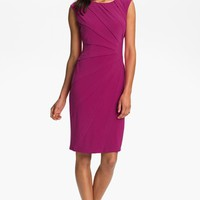 Adrianna Papell Seamed Jersey Sheath Dress (Petite) | Nordstrom