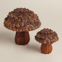 Pinecone Mushroom Decor | World Market