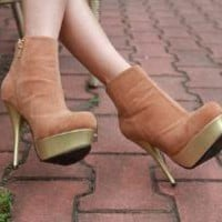 Ins and outs of the ancient high-heeled legs thick suede boots zipper by mili on Sense of Fashion