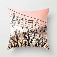 Melody Throw Pillow by Louise Machado
