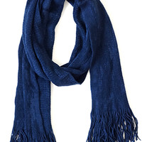 Timelessly Fashionable Scarf, Oxford Blue