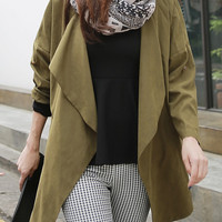 Women long jacket/women long coat/women long blazer/button coat/button jacket/trench coat/women top/Wide Collar Parka/women jacket