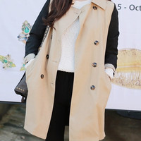 Women trench coat/women long coat/women long jacket/women long blazer/women outerwear/women top
