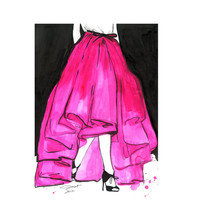 Original watercolor and pen fashion by JessicaIllustration on Etsy