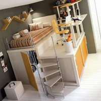 Lofted Space-Saving Furniture for Bedroom Interiors | Designs &amp; Ideas on Dornob