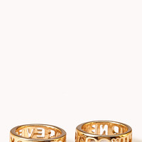 Statement-Making Forever Young Ring Set | FOREVER 21 - 1000127994
