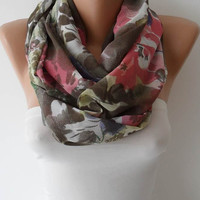 Soft Colors Chiffon Infinity Scarf