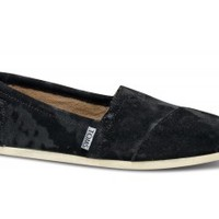 TOMS+ Black Brushed Metal Women's Classics