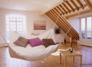 Le Beanock contemporary furniture twist on beanbag and hammock - recommendation by harfordwmj - ThisNext