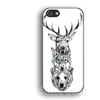 Deer Wolf Bear  new IPhone 5s case,IPhone 5c case,IPhone 4 case, IPhone 5 case ,IPhone 4s case,Rubber soft IPhone case