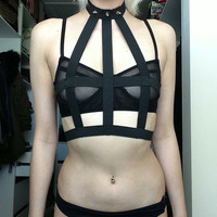 Cage bondage style harness custom made to fit by VomitusCreeper