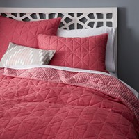 Nomad Coverlet + Shams - Lotus Pink