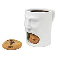 FACE MUG | Coffee Cup, Tea Saucer, Milk and Cookies, Serveware, Creative Glassware | UncommonGoods