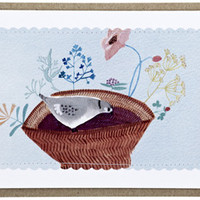 pigeon basket | Cards and Tags | Poppies for Grace