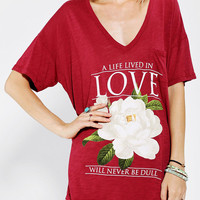 Urban Outfitters - Truly Madly Deeply Love Deep-V Tee