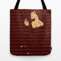 Girl with the impossible braids II Tote Bag by Ivan Rodero