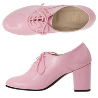 American Apparel - High Heel Bobby Patent Lace-Up Shoe