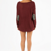 Glam Patched Sweater $40