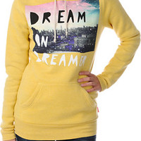 Glamour Kills Dream On Dreamer Skyline Yellow Pullover Hoodie at Zumiez : PDP