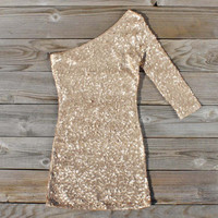 Golden Moon Dress in Gold