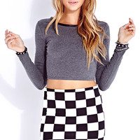 Edgy Faux Leather Crop Top | FOREVER 21 - 2040496876