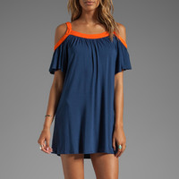 James & Joy Hillary Open Shoulder Dress in Navy from REVOLVEclothing.com