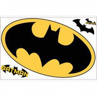 Room Mates Licensed Designs Batman Giant Peel and Stick Logo - RMK1461SLM - Decor