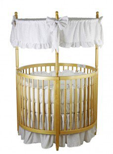Dream On Me Sophia Posh Circular Crib in Natural - 669-N - Cribs - Nursery Furniture - Baby &amp; Kids&#x27; Furniture - Furniture