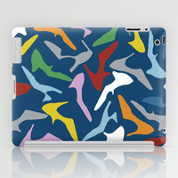 Shoes on Navy iPad Case by Project M