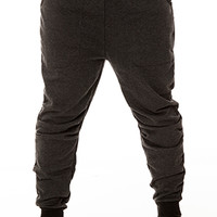 ARSNL The Haru Dropcrotch Sweatpants in Charcoal Terry