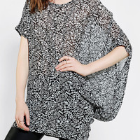 Urban Outfitters - Sparkle & Fade Asymmetrical Drapey Tunic