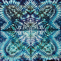 Medium Premium Tie Dye Tapestry by Emerald Springs, sea green, ocean colors, water wallhanging